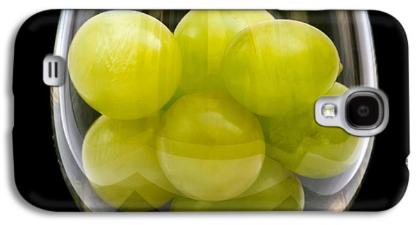 Vino Photographs Galaxy S4 Cases - White Grapes in Glass Galaxy S4 Case by Wim Lanclus