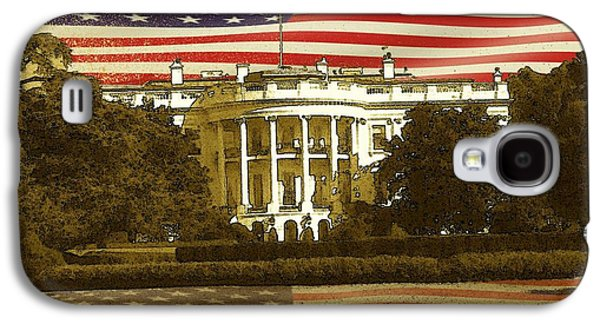 Us Capital Mixed Media Galaxy S4 Cases - White House Washington - Patriotic Poster Galaxy S4 Case by Peter Fine Art Gallery  - Paintings Photos Digital Art