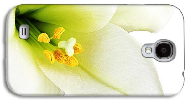 White Lilly Macro Galaxy S4 Case by Johan Swanepoel