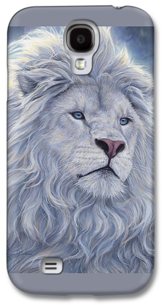 White Lion Galaxy S4 Case by Lucie Bilodeau