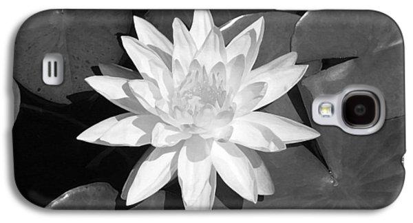 Aquatic Galaxy S4 Cases - White Lotus 2 Galaxy S4 Case by Ellen Henneke
