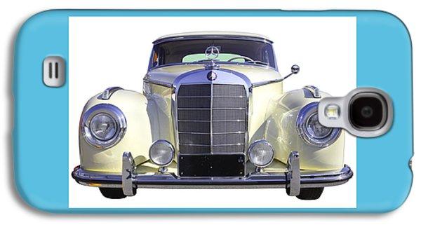 Nostalgia Digital Art Galaxy S4 Cases - White Mercedes Benz 300 Luxury Car Galaxy S4 Case by Keith Webber Jr