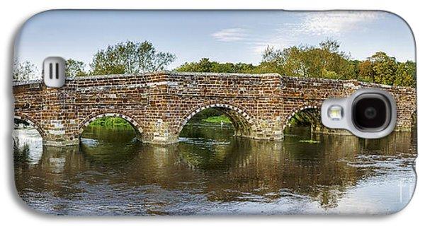 White River Scene Photographs Galaxy S4 Cases - White Mill Bridge in Dorset Galaxy S4 Case by Helen Hotson