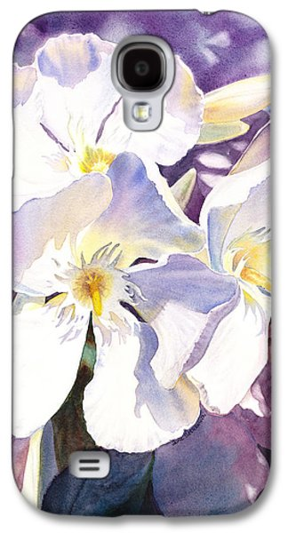 Flora Paintings Galaxy S4 Cases - White Oleander Galaxy S4 Case by Irina Sztukowski