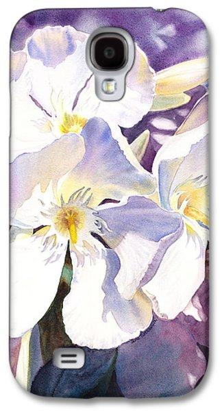 Botanical Galaxy S4 Cases - White Oleander Galaxy S4 Case by Irina Sztukowski