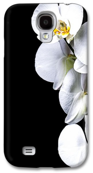 Studio Photographs Galaxy S4 Cases - White Orchid II Galaxy S4 Case by Erik Brede