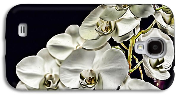 Nature Scene Digital Art Galaxy S4 Cases - White Orchids Galaxy S4 Case by Tom Prendergast