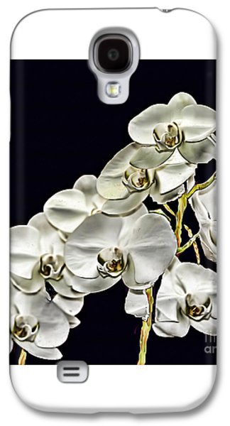 Garden Images Galaxy S4 Cases - White Orchids Galaxy S4 Case by Tom Prendergast