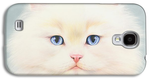 Animal Galaxy S4 Cases - White Persian Galaxy S4 Case by Andrew Farley