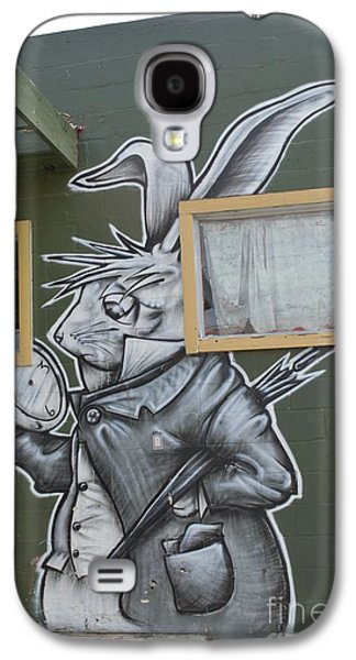 March Hare Galaxy S4 Cases - White Rabbit Galaxy S4 Case by Lne Kirkes