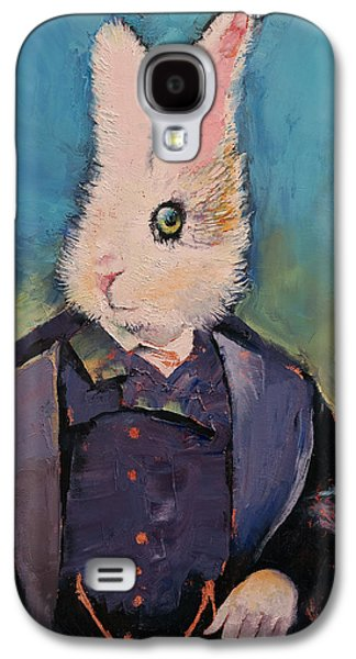Alice In Wonderland Galaxy S4 Cases - White Rabbit Galaxy S4 Case by Michael Creese