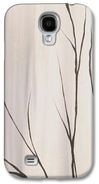 Landscape Acrylic Prints Galaxy S4 Cases - White Red And Black 1 Of 3 Galaxy S4 Case by Roni Ruth Palmer
