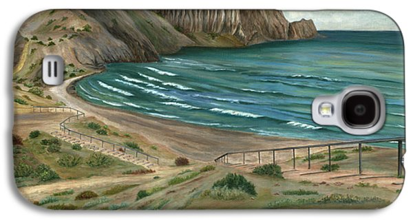 Water Jars Paintings Galaxy S4 Cases - White Rocks Beach Galaxy S4 Case by Angeles M Pomata