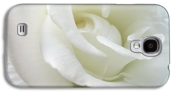 Close Photographs Galaxy S4 Cases - White Rose Angel Wings Galaxy S4 Case by Jennie Marie Schell