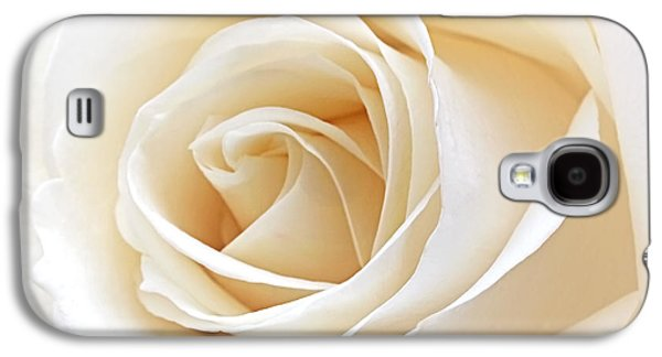 Inner Peace Galaxy S4 Cases - White Rose Heart Galaxy S4 Case by Gill Billington