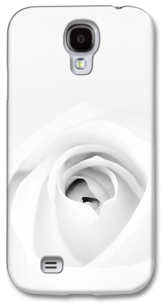 Monotone Galaxy S4 Cases - White Rose Galaxy S4 Case by Scott Norris