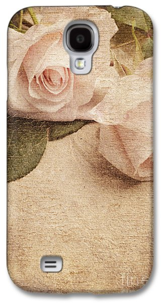 Abstracts Pyrography Galaxy S4 Cases - White Roses Galaxy S4 Case by Jelena Jovanovic