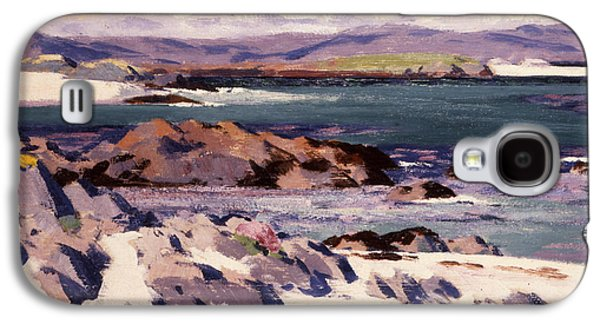 Scotland Paintings Galaxy S4 Cases - White Sands   Iona  Galaxy S4 Case by Francis Campbell Boileau Cadell
