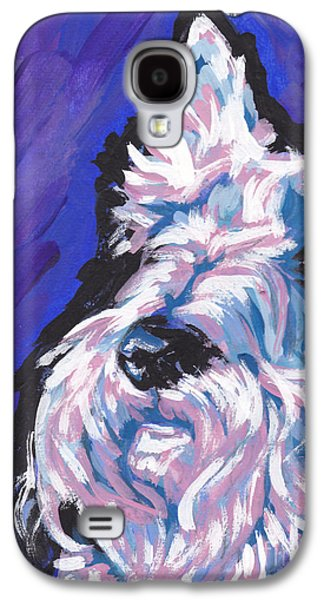 Scottish Dog Galaxy S4 Cases - White Scot Galaxy S4 Case by Lea