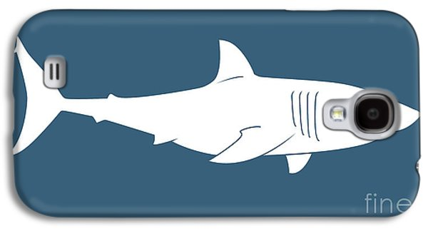 Shark Paintings Galaxy S4 Cases - White Shark Galaxy S4 Case by Amy Kirkpatrick
