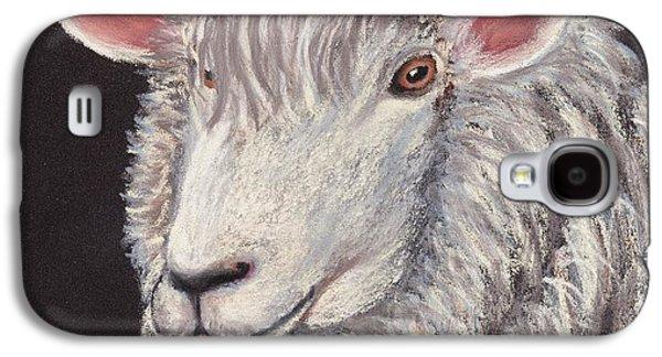 Domestic Galaxy S4 Cases - White Sheep Galaxy S4 Case by Anastasiya Malakhova