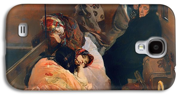 Slavery Paintings Galaxy S4 Cases - White Slave Trade Galaxy S4 Case by Joaquin Sorolla