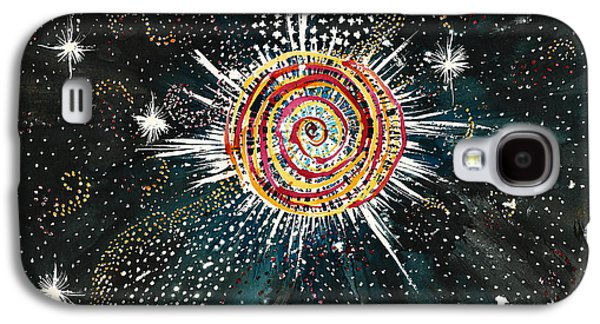 Constellations Paintings Galaxy S4 Cases - White Star Universe Galaxy S4 Case by Kathy-Lou
