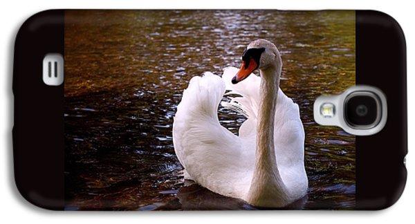 White Swan Galaxy S4 Case by Rona Black