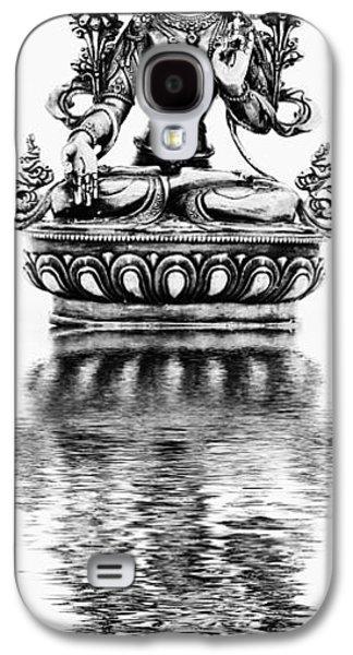 Tibetan Buddhism Galaxy S4 Cases - White Tara Deity Galaxy S4 Case by Tim Gainey