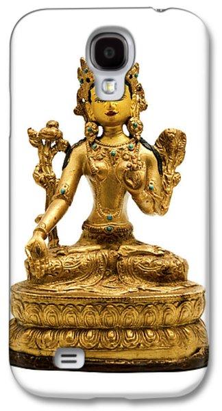 Tibetan Buddhism Galaxy S4 Cases - White Tara Galaxy S4 Case by Fabrizio Troiani
