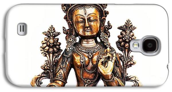 Tibetan Buddhism Galaxy S4 Cases - White Tara Galaxy S4 Case by Tim Gainey