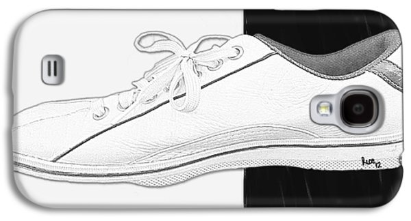 Photo Manipulation Paintings Galaxy S4 Cases - White Tennis Shoe Galaxy S4 Case by Billy Cooper Rice