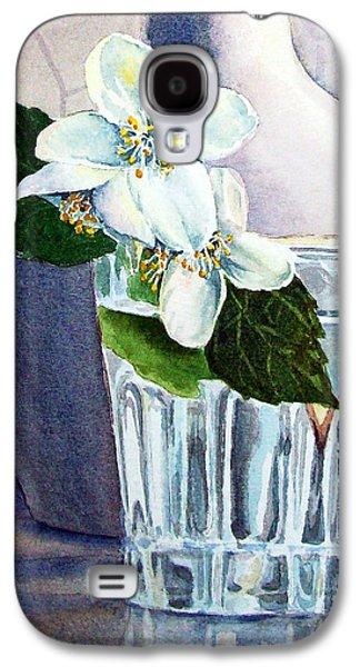 Flower Still Life Prints Galaxy S4 Cases - White White Jasmine  Galaxy S4 Case by Irina Sztukowski
