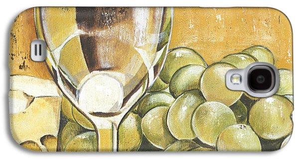 White Wine And Cheese Galaxy S4 Case by Debbie DeWitt