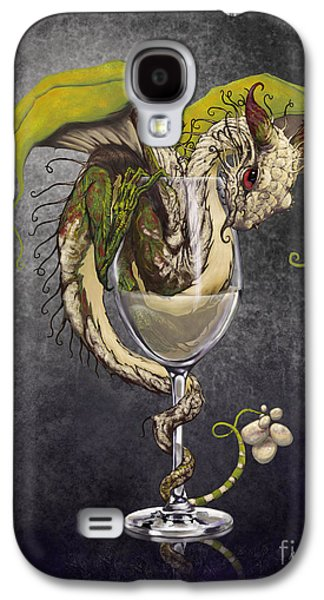 White Wine Dragon Galaxy S4 Case by Stanley Morrison