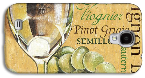 White Wine Text Galaxy S4 Case by Debbie DeWitt