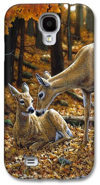 Deer Galaxy S4 Cases - Whitetail Deer - Autumn Innocence 2 Galaxy S4 Case by Crista Forest