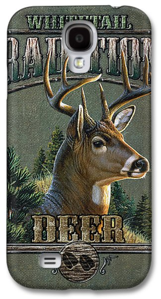 Cynthie Fisher Galaxy S4 Cases - Whitetail deer Traditions Galaxy S4 Case by JQ Licensing
