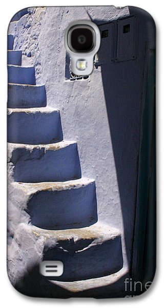 Whitewashed Steps In The Medina Of Asilah On Northwest Tip Of Atlantic Coast Of Morocco Galaxy S4 Case by Ralph A  Ledergerber-Photography