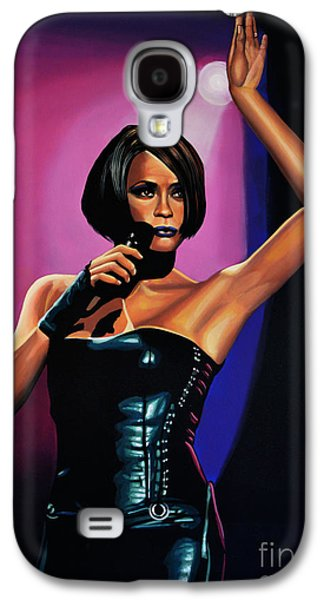 Rhythm And Blues Galaxy S4 Cases - Whitney Houston On Stage Galaxy S4 Case by Paul Meijering