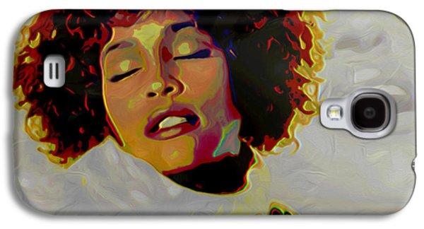 Singing Galaxy S4 Cases - Whitney Houston Galaxy S4 Case by  Fli Art