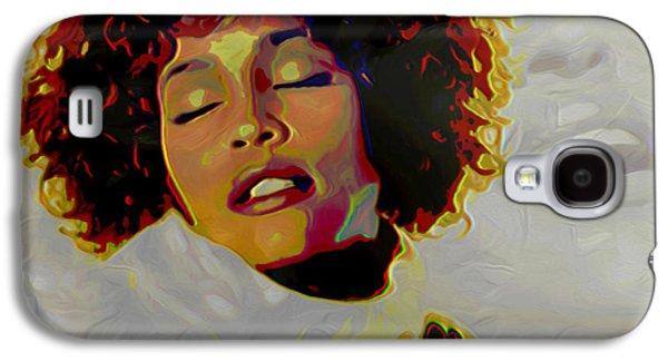 Modern Digital Digital Digital Galaxy S4 Cases - Whitney Houston Galaxy S4 Case by  Fli Art