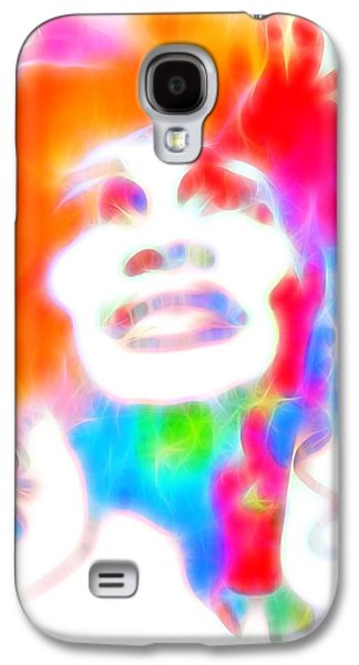 The Hills Mixed Media Galaxy S4 Cases - Whitney Houston Glowing Galaxy S4 Case by Dan Sproul