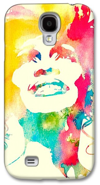 The Hills Mixed Media Galaxy S4 Cases - Whitney Houston Watercolor Canvas Galaxy S4 Case by Dan Sproul