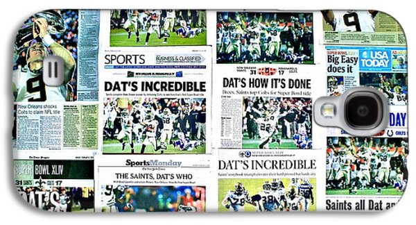 Sports Photographs Galaxy S4 Cases - Who Dat Headlines Galaxy S4 Case by Benjamin Yeager