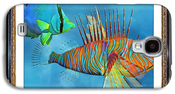Aquatic Mixed Media Galaxy S4 Cases - Who Framed the Fishes Galaxy S4 Case by Betsy A  Cutler