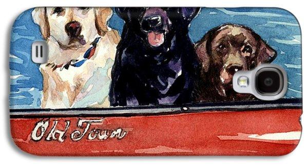 Chocolate Labrador Retriever Galaxy S4 Cases - Whole Crew Galaxy S4 Case by Molly Poole