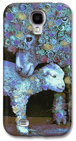 Sheep Digital Art Galaxy S4 Cases - Whose little lamb are you? Galaxy S4 Case by Jane Schnetlage