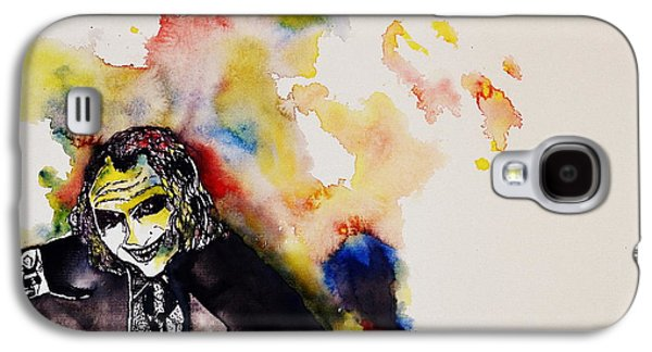 Joker Dark Knight Heath Ledger Movie Actor Galaxy S4 Cases - Why so serious? Galaxy S4 Case by Shruti Shubham