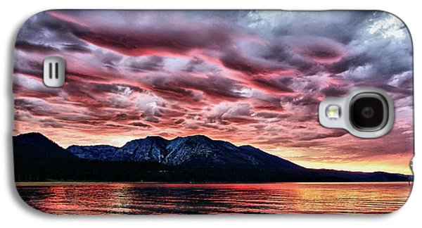 Grey Clouds Photographs Galaxy S4 Cases - Wicked Galaxy S4 Case by Cheryl Young